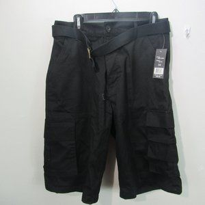 Wicked Stitch Men's Belted Cargo Shorts Black W 34